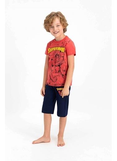 Superman Superman Lisanslı Sarı Erkek Çocuk Kapri Takım Mercan